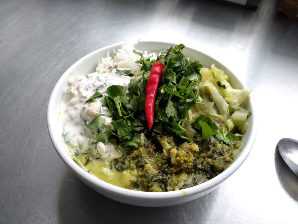 Zelené vegan kari